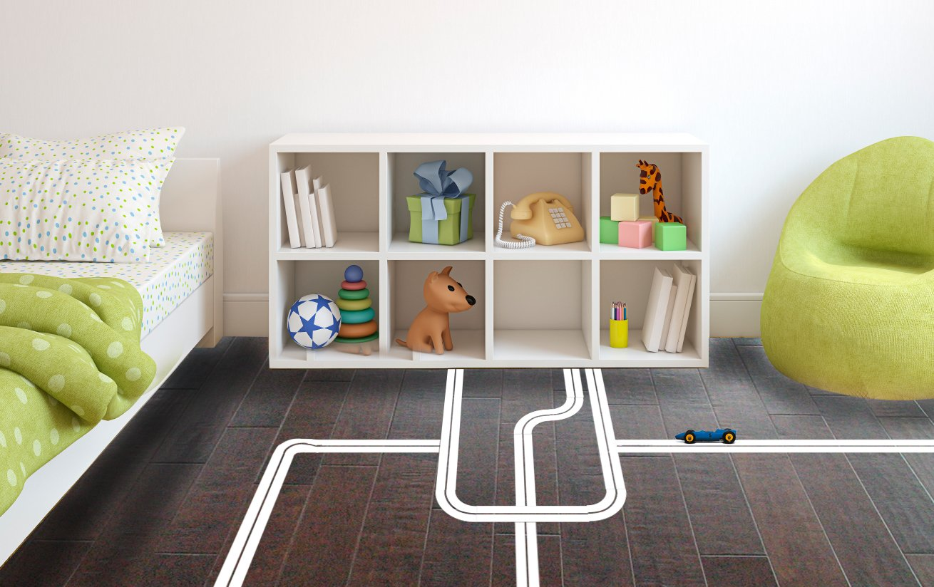 Play Roads Set - Large - Custom Vinyl Wall Art Decal for Homes, Offices, Kids Rooms, Nurseries, Schools, High Schools, Colleges, Universities, Interior Designers, Architects, Remodelers
