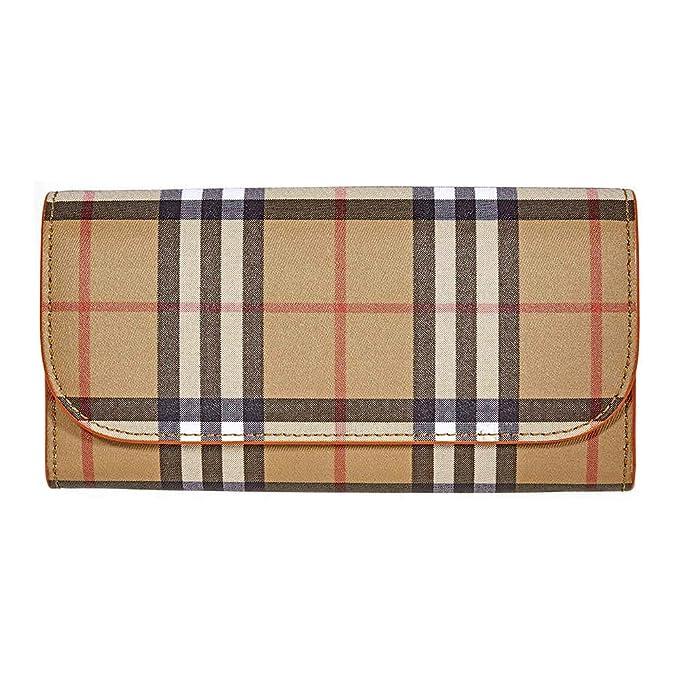 Burberry monedero cartera bifold de mujer nuevo Halton marrón: Amazon.es: Ropa y accesorios