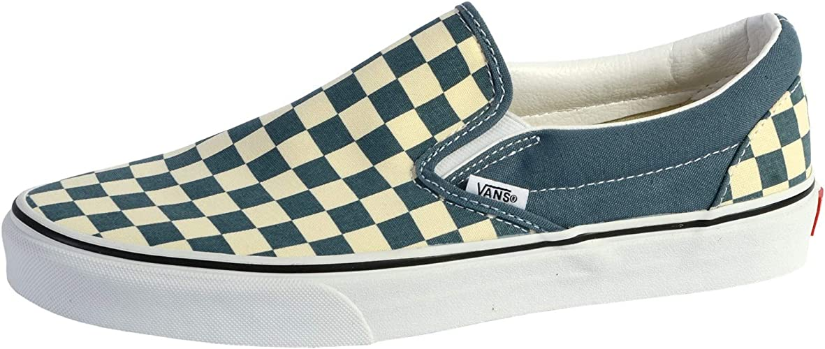 Vans Classic Slip ON Schuh 2020 Checkerboard Blue MirageTrue White
