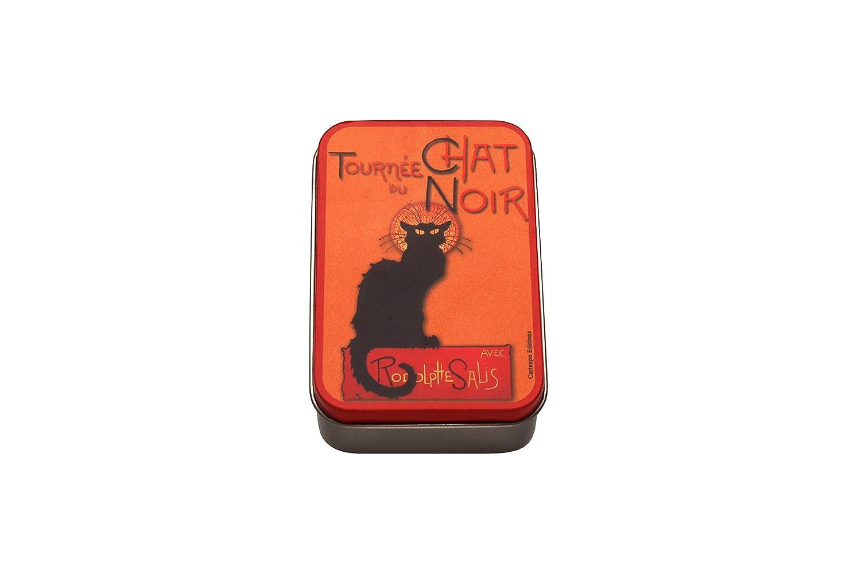 "French Classics Metalldose /""Chat Noir/"" 9,5 x 6 x 2,7 cm"