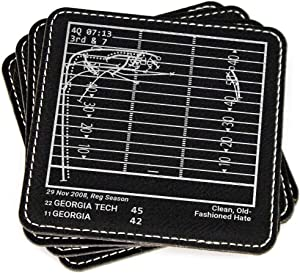 Greatest Georgia Tech Football Plays - Leatherette Coasters (Set of 4)