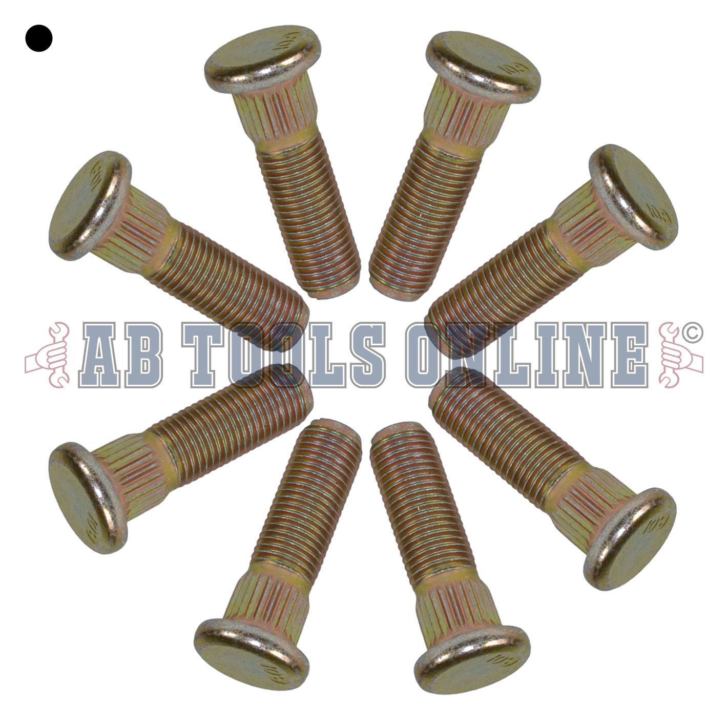 Pack de 8 3/8 UNF espárragos y tuercas de rueda de 4
