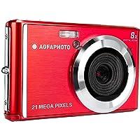 AGFA Photo - Fotocamera digitale compatta con sensore CMOS da 21 Megapixel, zoom digitale 8x e display LCD rosso