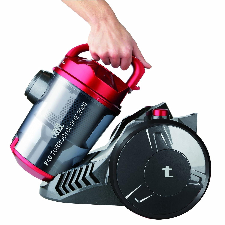 Taurus 948955 - Aspirador sin bolsa, 2000 W, 350 W succión, deposito 2 L, filtro HEPA, color rojo: Amazon.es: Hogar