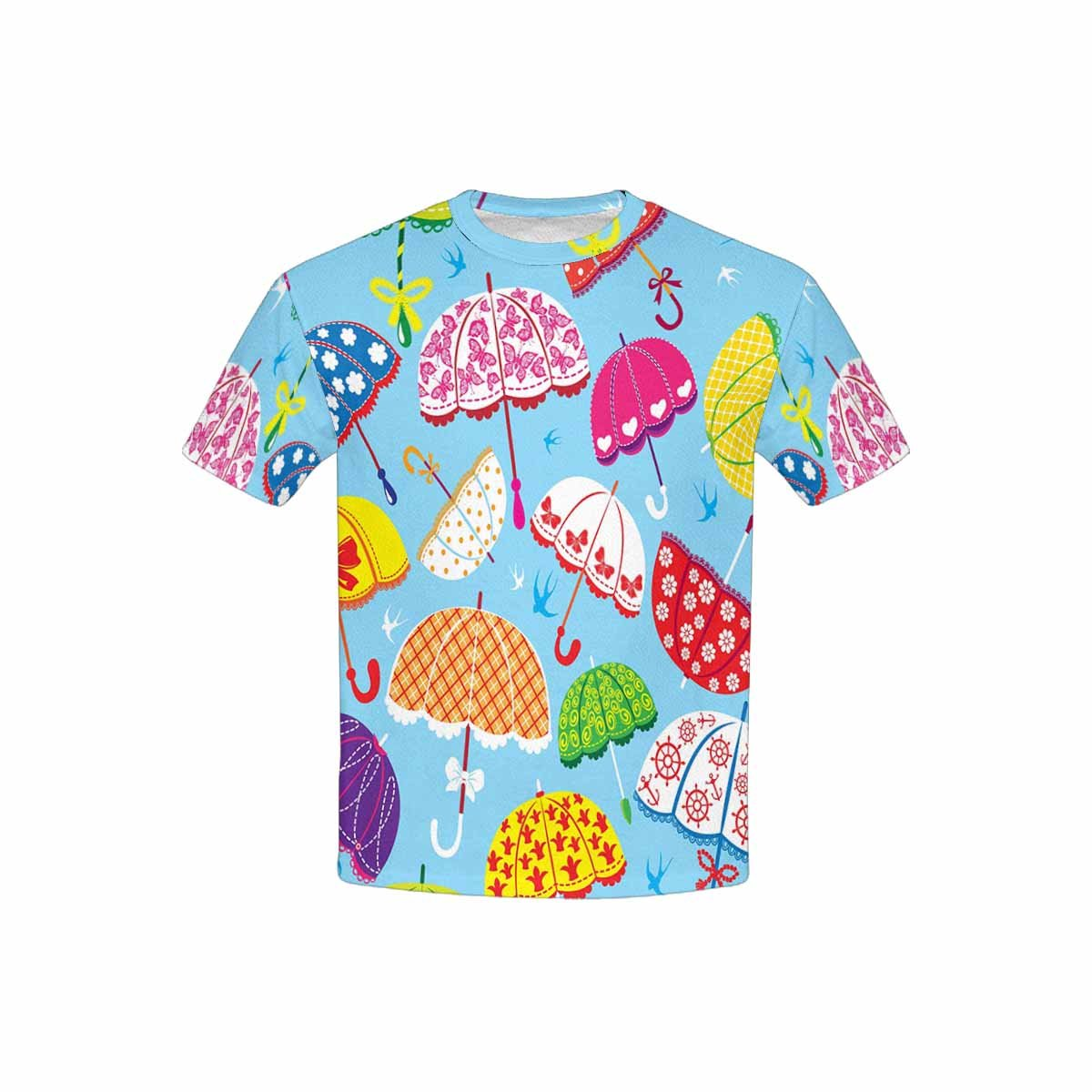 XS-XL INTERESTPRINT Kids T-Shirts Colorful Umbrellas