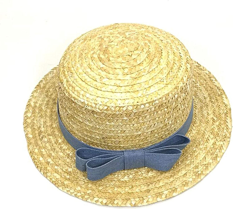 Sun Hat Women Beach Flat Panama Straw Hat Chapeau Femme,1,48-52Cm