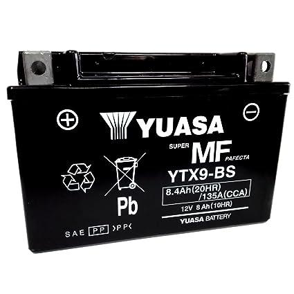 Batería Yuasa YTX9-BS 12 V 8 Ah Para Kawasaki ZX-6R NINJA 636 2002/2006