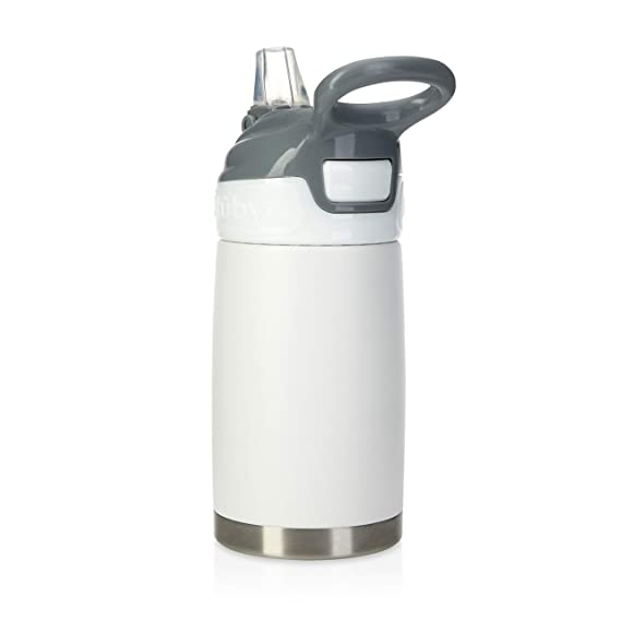 Nuby No Spill Thirsty Kids Flip It Toddler Cup Bottle SoftFlex™ silicone straw