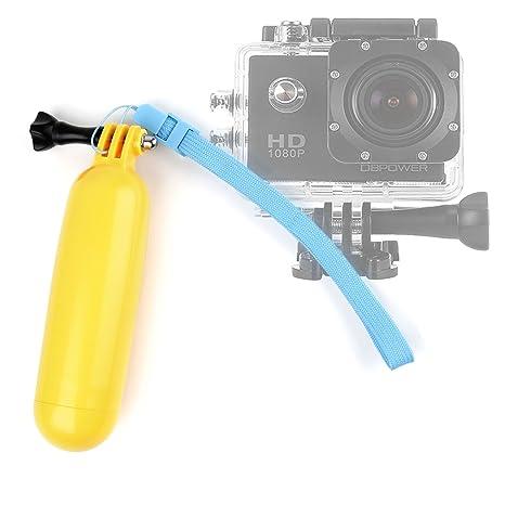Flotador boya resistente/mango amarillo + cordón ajustable para Hitachi hdsvr70e, Olympus tg-