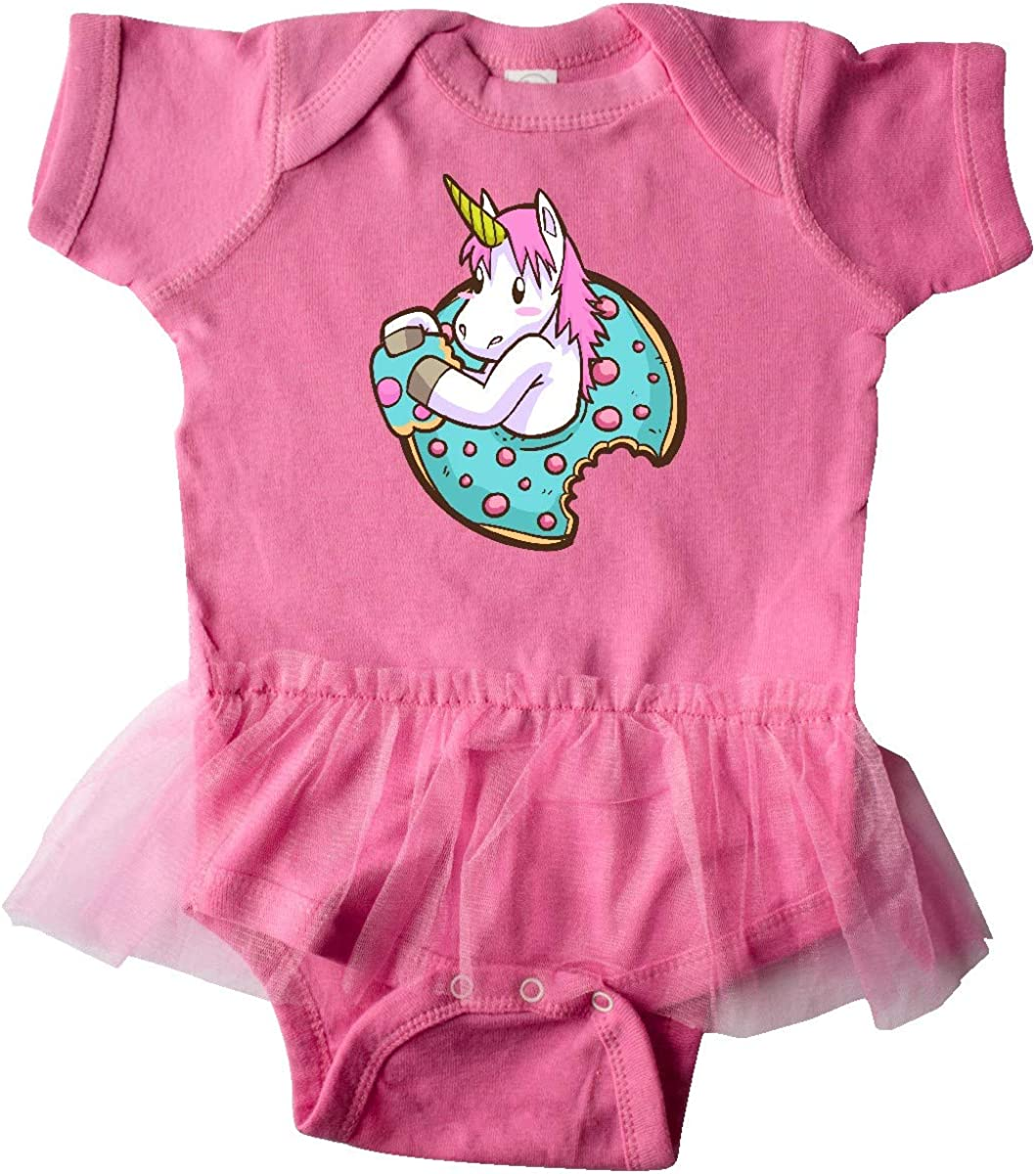 inktastic Unicorn Donut Infant Tutu Bodysuit