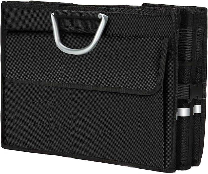 Foldable Cargo Storage Waterproof Multipurpose Portable Storage Bin MEGSUN Sturdy Car Trunk Organizer for Trucks//SUVs//Cars//RVs with Auto Durable Black