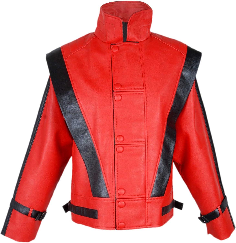e-clothing Michael Jackson Thriller - Chaqueta de Piel, Color Rojo
