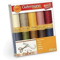 Gutermann 734521-3 - Juego de hilos (algodón natural
