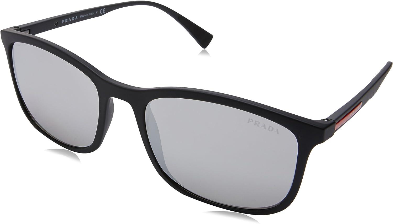 Prada Linea Rossa 0PS 01TS, Gafas de Sol para Hombre, Negro (Black Rubber), 55