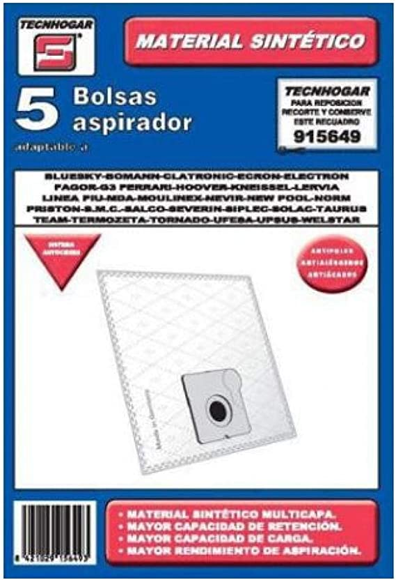 Tecnhogar 915649 Bolsa aspirador, Blanco: Amazon.es: Hogar
