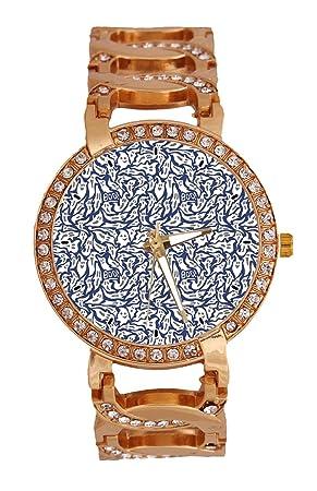 Halloween Ghost - Reloj de pulsera para mujer, analógico, de cuarzo, con cadena