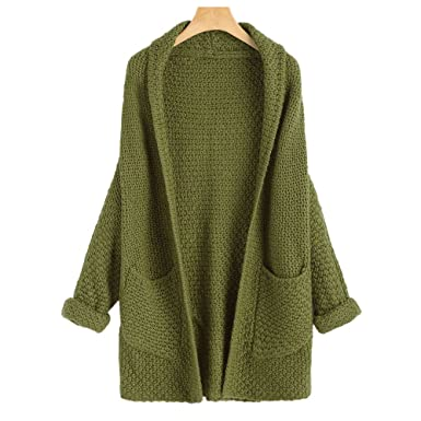 c55f8a9799492 Prior Jms Women Cardigan Sweaters Long Sleeve Plus Size Open Front Shawl  Collar Pullover Knitwear Sweater
