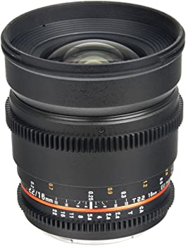 Bower SLY16VDN 16mm T2.2 Cine Lens for Nikon F Mount