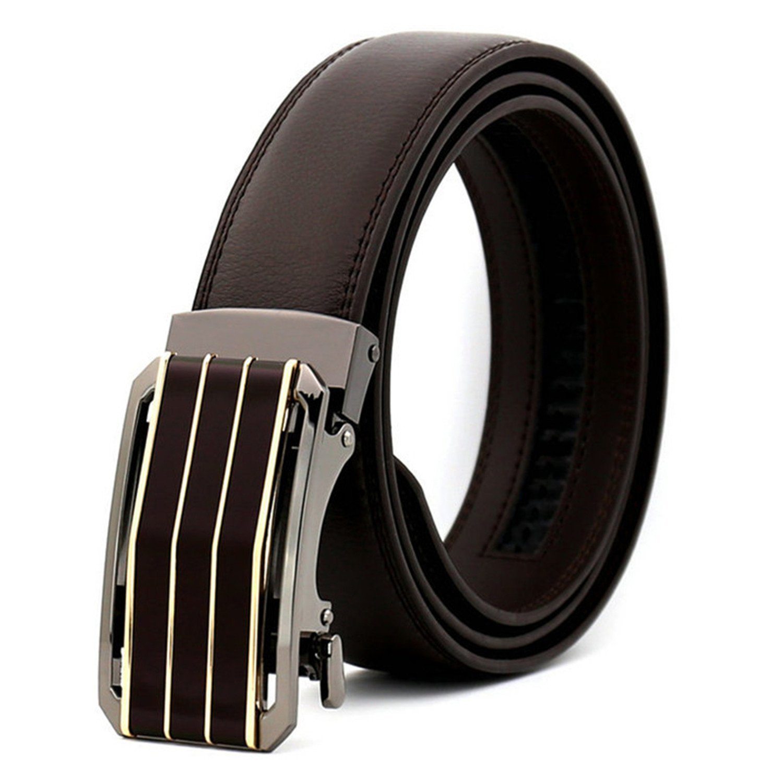 Belts Men Leather Mens Belt Luxury 100/% automatic buckle brown belt