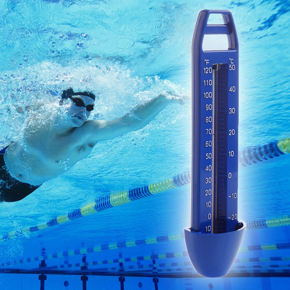 Fucung 1pcs High Quality Floating Water Thermometer for Swimming Pool, Hot Tube etc Blue Outdoor Swimming Pool Thermometer