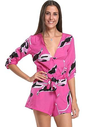b355c65cb40 Amazon.com  Choies Women s Floral Print Long Sleeves Romper Playsuit  Jumpsuit (S