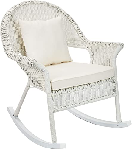 Deal of the week: BrylaneHome Roma All-Weather Rocking Chair w/Free toss Pillow seat Cushion