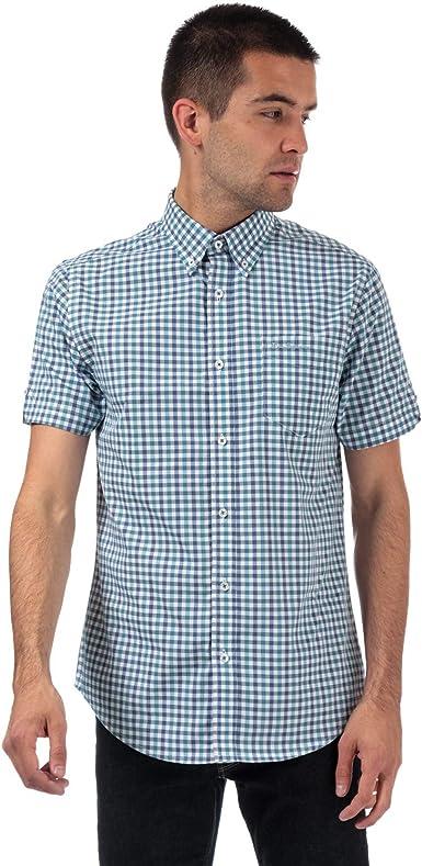 Ben Sherman - Camisa de manga corta para hombre azul S: Amazon.es: Ropa y accesorios