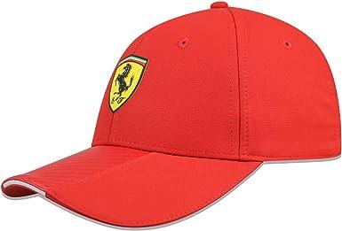 Branded Sports Merchandising B.V. Scuderia Ferrari F1 - Gorro de carbono rojo: Amazon.es: Ropa y accesorios