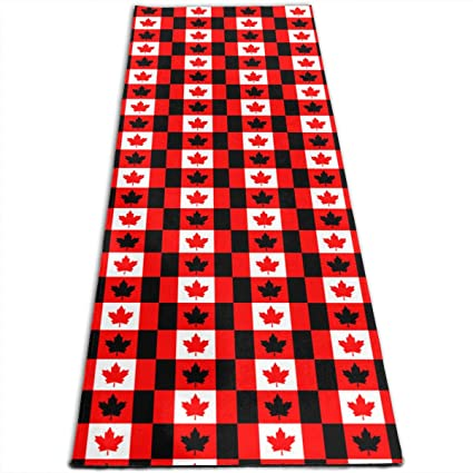Amazon.com: Canada Flag Pattern Printed Yoga Mat Prana Yoga ...