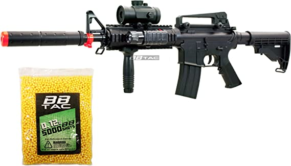 BBTac BT-M83 LPEG Full Auto Electric Power 250 FPS AEG Airsoft Gun with 5