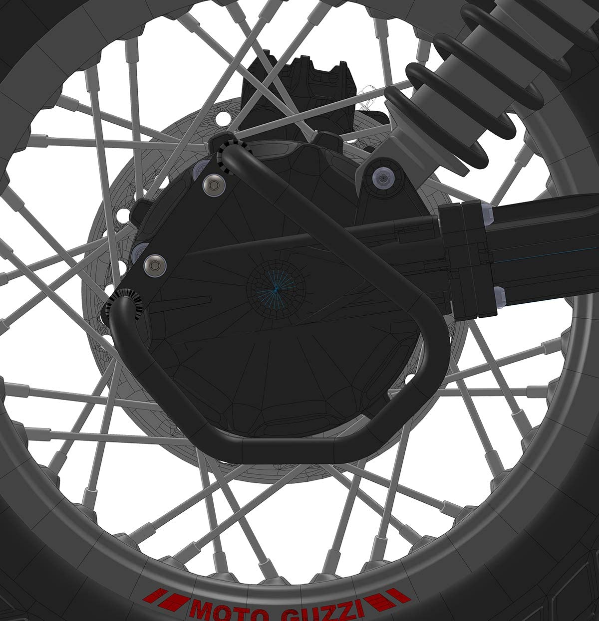MyTech Protection de cardan en acier noir pour moto Guzzi V85TT