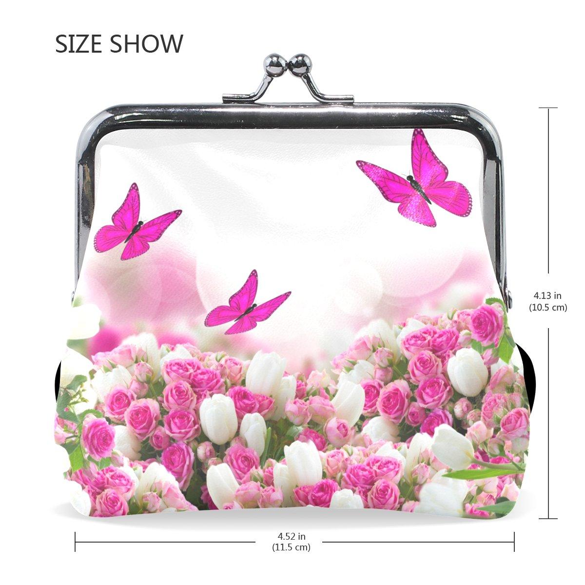 COOSUN Mariposas Rosas Tulipanes Flores de Cuero de la ...