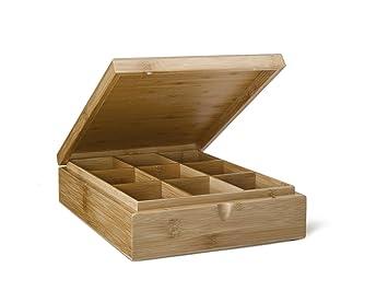 Bredemeijer-Teebeutel-Kiste, 9 Fächer Bambusholz (ohne ...
