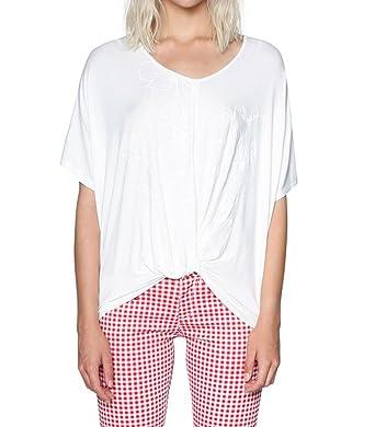 April S Blanc Shirt Femme T 18swtk93 Ts Desigual wv80mNn