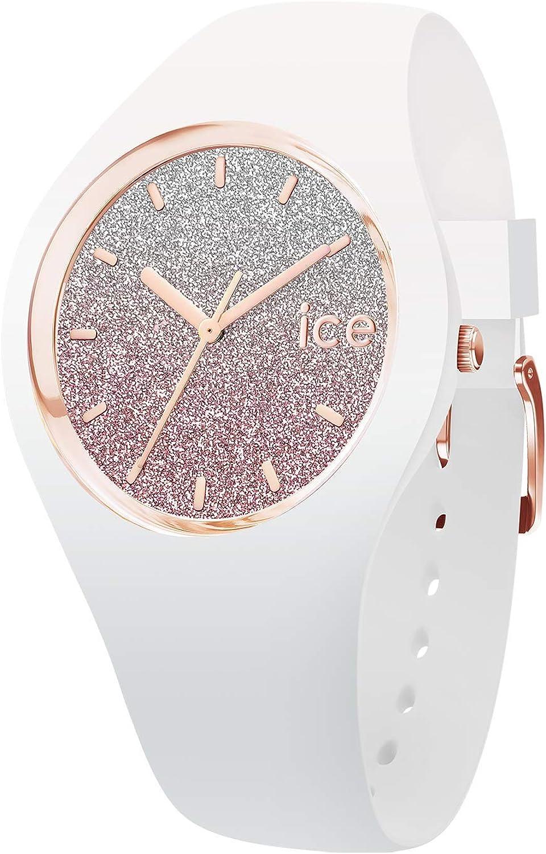 Ice-Watch - Ice Lo White Pink - Reloj Blanco para Mujer con Correa de Silicone