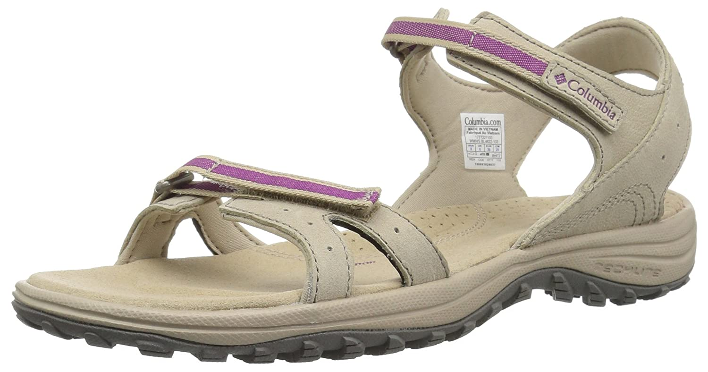 Columbia Women's Santiam Sandal B073W76CXZ 7 B(M) US|Silver Sage, Intense Violet