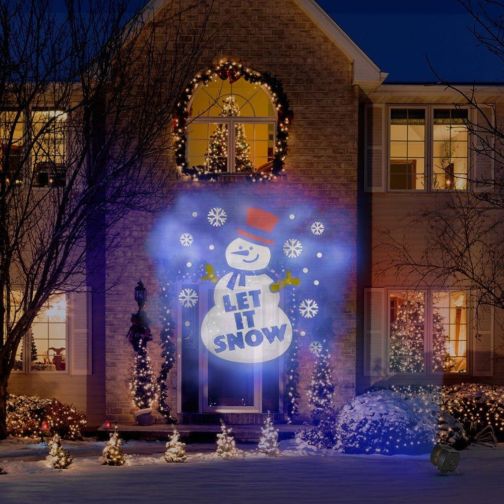 Christmas Holiday Light Show Projector 8 Colorful Swirling Slides ...