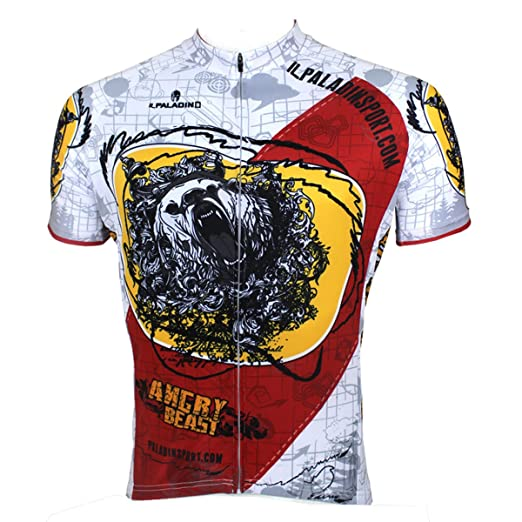 ILPALADINO Men s Cycling Jersey Short Sleeve Biking Shirts Animals Pattern  (XXS 84fcc1c9b