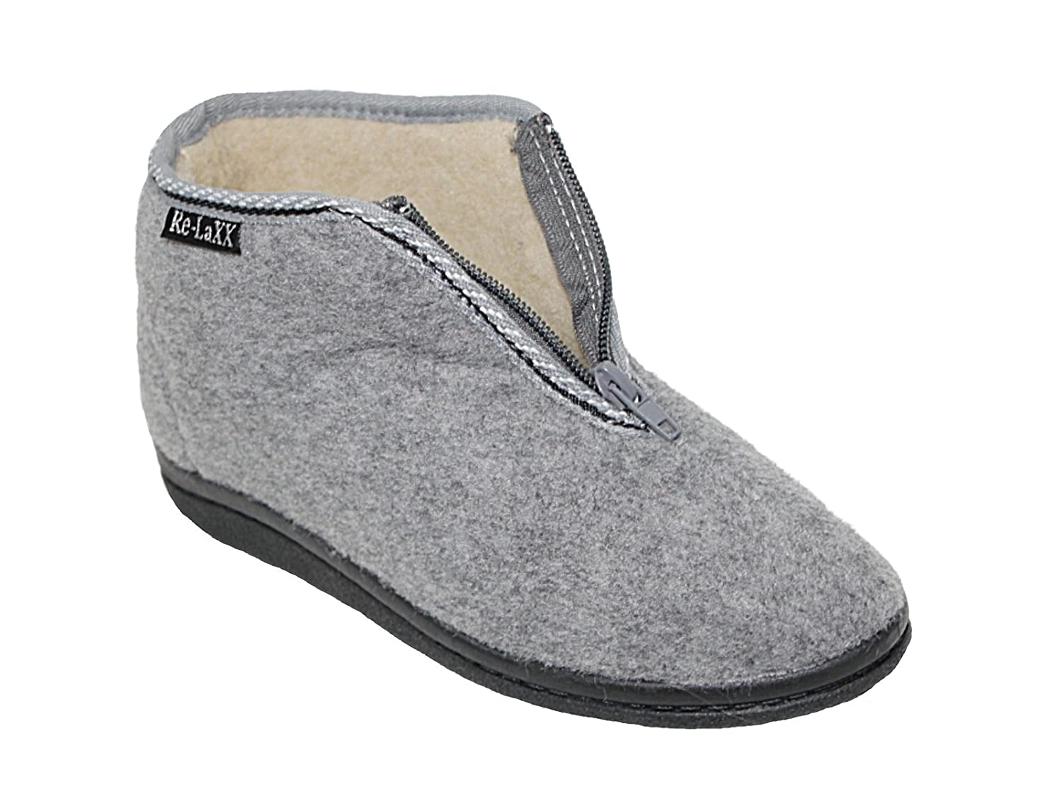 0af601dbb85f Ladies Wool Sheepskin Faux Fur Lined Slip On Elastic Gusset Low Wedge Flat  Moccasin Hard Sole Boot Slippers Shoes Size 3-9  Amazon.co.uk  Shoes   Bags
