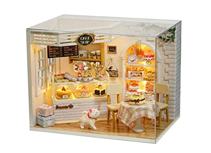 Home & Garden Sporting Creative Diy 3d Dollhouse Miniature With Rotate Music Box Dust Cover Led Light Birthday Wedding Gifts Strong Packing Music Boxes