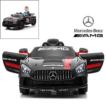 Amazon.com: Mercedes Benz AMG GT4 - Coche eléctrico con ...