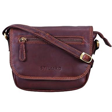 d8f0d36d5c3d8 STILORD  Elsa  Umhängetasche Damen Leder klein Handtasche Frauen Vintage  kleine Damentasche Ausgehen Abendtasche Partytasche