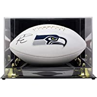 $399 » Russell Wilson Seattle Seahawks Signed Logo Football Wilson COA w/Deluxe Acrylic Display Case