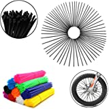 72Pcs Universal Spoke Skins Covers,Wheel Spoke Wraps Skins Pipe Trim Decoration Protector For Motorcycle Dirt Bike…