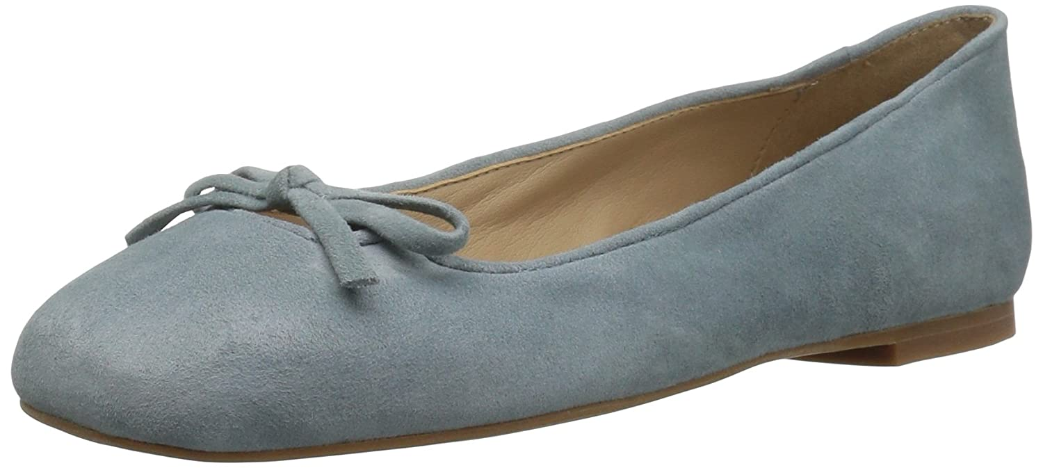 The Fix Women's Zavala Structured Bow Ballet Flat B01N9X5SRG 8.5 B(M) US|Blue Bird Grey