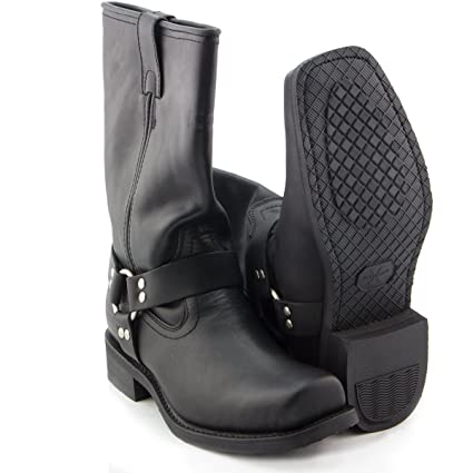 7d7b173db29 Image Unavailable. Image not available for. Color  Xelement 1442 Classic  Mens Black Harness Motorcycle Biker Boots ...