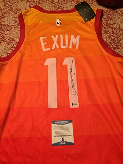 34aa5989e Image Unavailable. Image not available for. Color  Dante Exum Autographed  Signed Memorabilia Utah Jazz Jersey Beckett COA ...