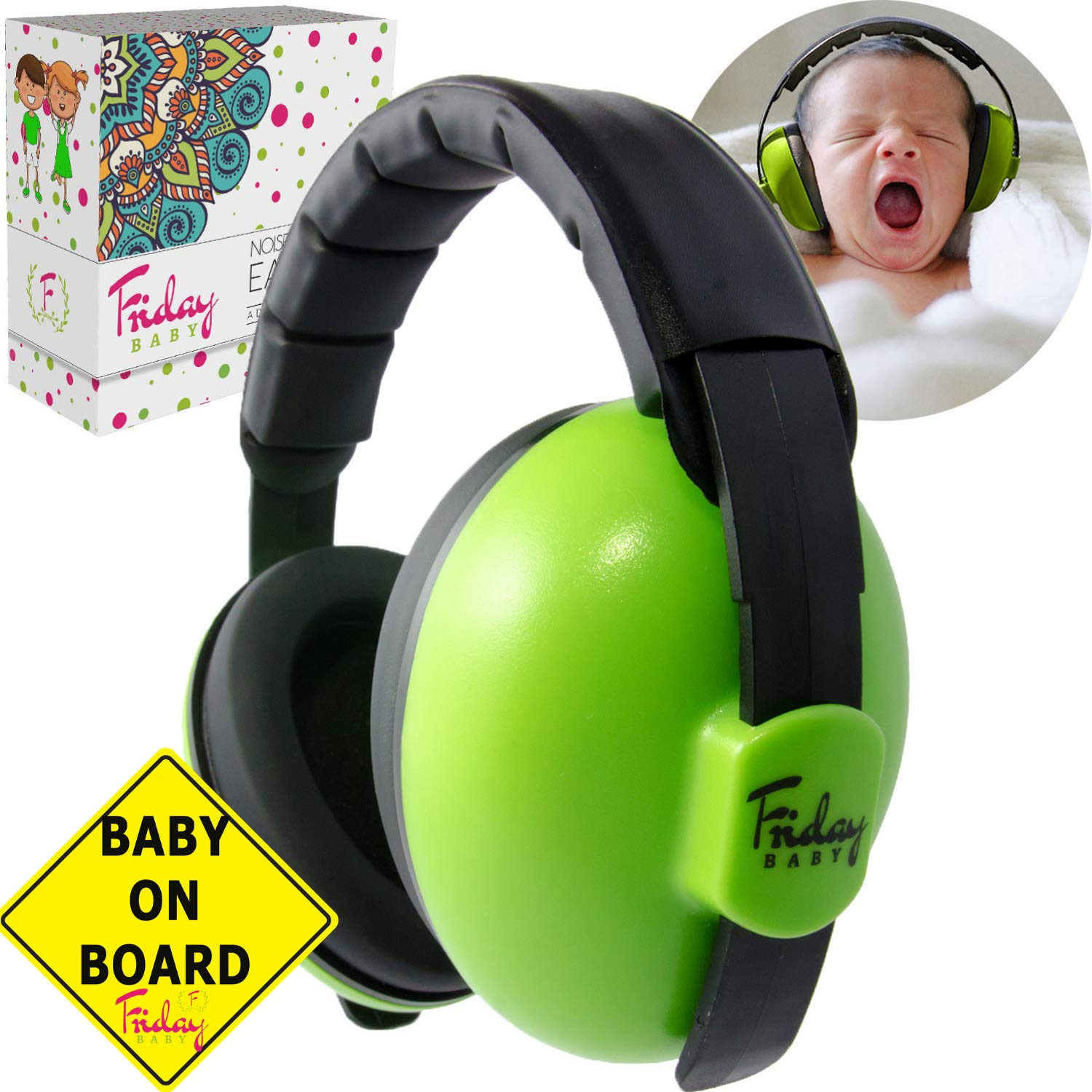 Baby Ear Protection - Comfortable and Adjustable Premium Noise Cancelling Headphones for Babies, Infants, Newborns (0-2+ Years) | Best Baby Headphones Noise Reduction for Concerts, Fireworks & Travels by Friday Baby (Image #9)