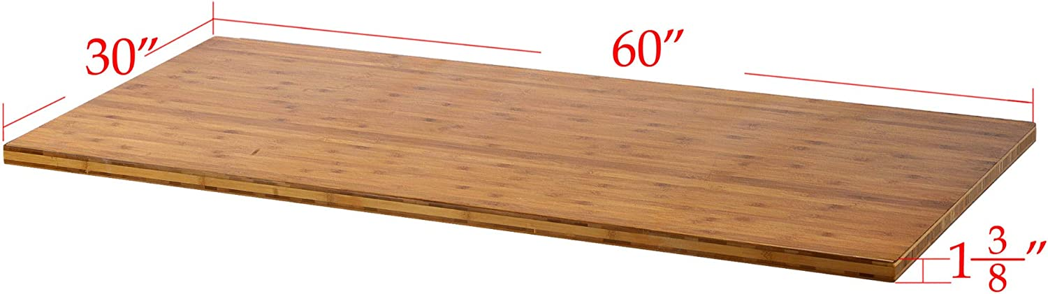45/°Edge /& Round Corner Without Burr Easy Assembly Matched Electric Standing Desk Frame Tangkula 53 x 27.5 Bamboo Board with Oil Finish for Single Motor Desk Frame Natural Wood