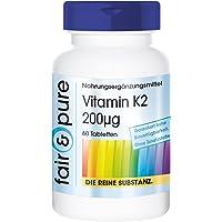 Vitamine K2 200mcg MK7-60 comprimés - Substance pure - sans additifs